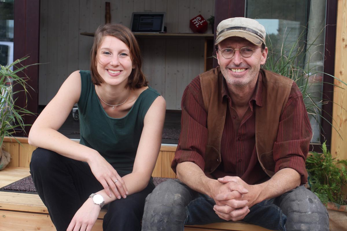 Die Wohnwagon-Gründer Theresa und Christian