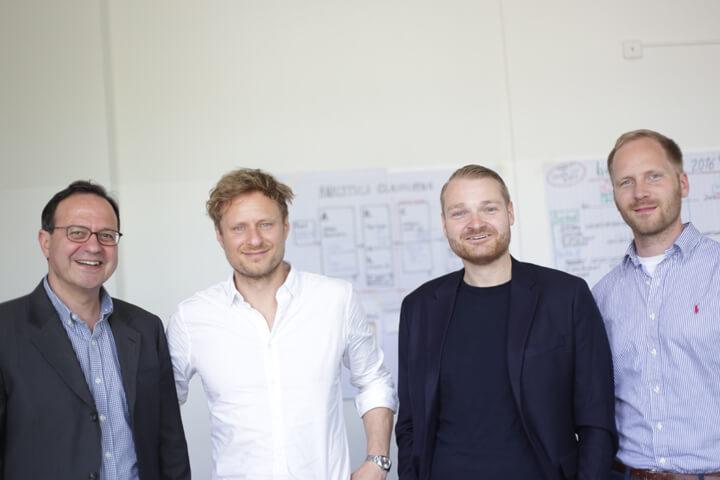 Das Gründerteam von bonify: Gamal Moukabary, Andreas Bermig, Josef Korte und Jan Ortmann (v.l.n.r)