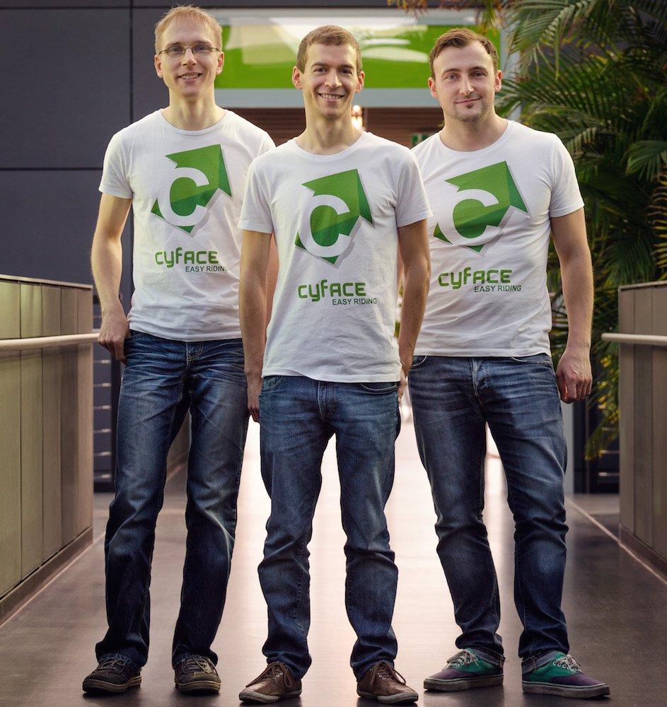 Das Cyface-Team:Dr. Klemens Muthmann, Armin Schnabel, Dirk Ackner (v.l.n.r.) Foto ©Cyface