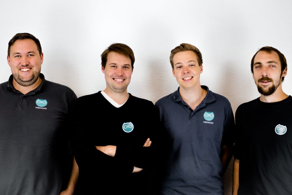 Das MEMOIO Gründerteam (v.l.n.r.): Michael Haufler, Andreas Haufler, Sascha Bieberstein, Marius Oßmer