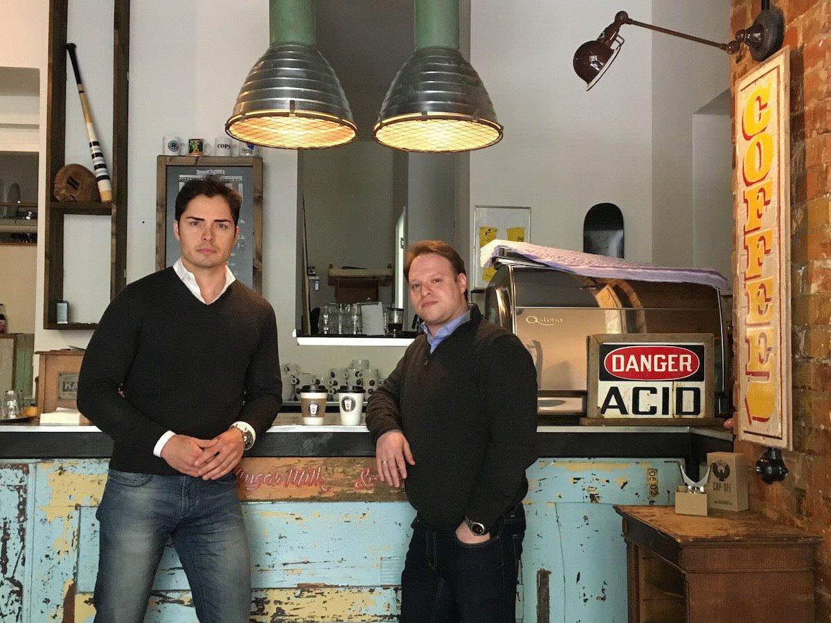 Die mycoffeein Gründer: Roman Bobrov und Sascha Trojanowskij