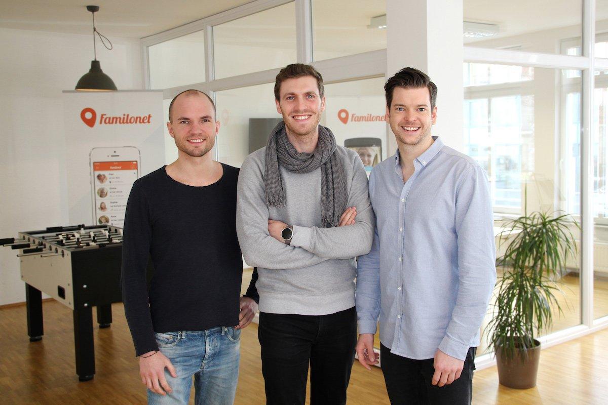 Die Familonet Gründer: David Nellessen, Michael Asshauer und Hauke Windmüller