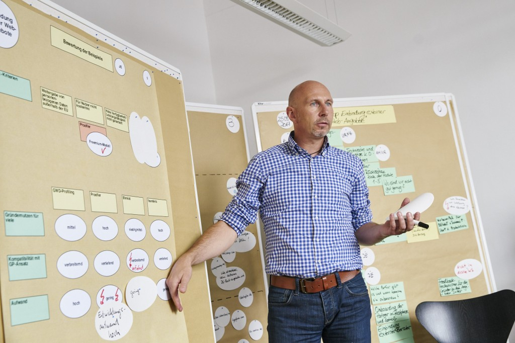 Marco Habschick, Geschäftsführer der BusinessPilot GmbH, will die Gründungsförderung ins digitale Zeitalter überführen. (Foto: BusinessPilot / Claudia Höhne)