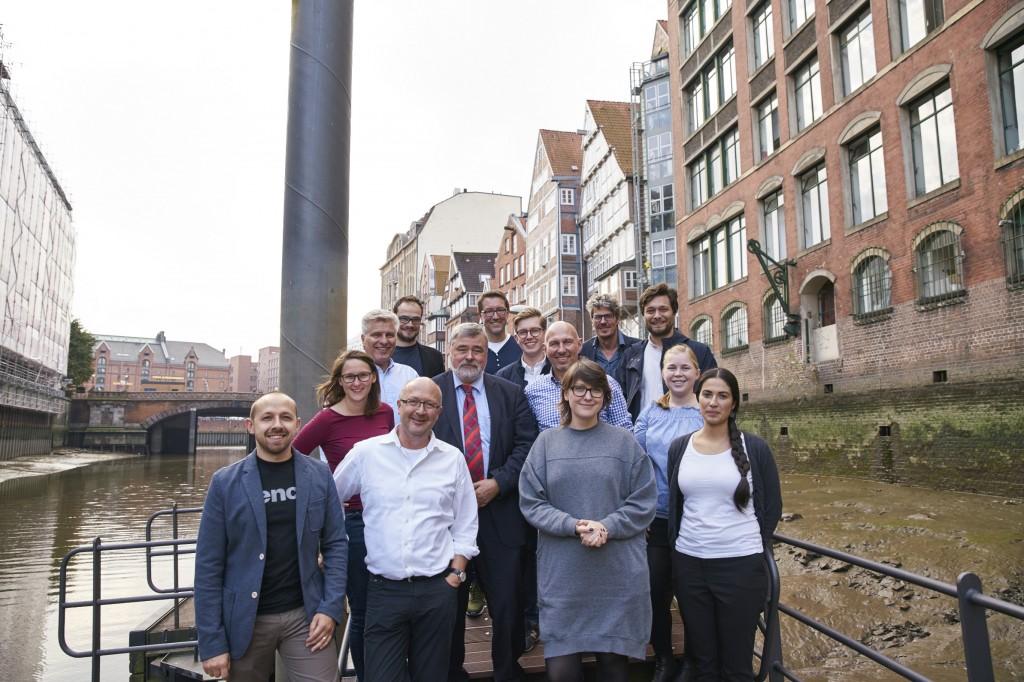 Das Team Gründerplattform, bestehend aus Mitgliedern von BMWi, KfW und BusinessPilot. (Foto: BusinessPilot / Claudia Höhne)