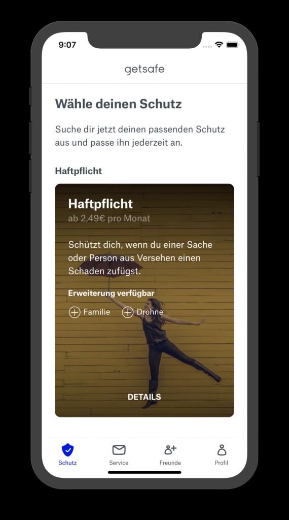 Screenshot Getsafe App